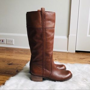 Lucky Brand Brown Leather Riding Boots 9.5